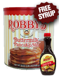 Original Robby's Buttermilk Pancake Mix - Premium Classic Canister & FREE Syrup