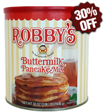 Original Robby's Buttermilk Pancake Mix - Premium Classic Canister